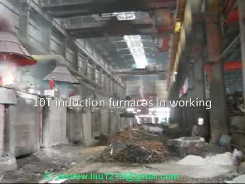 10 ton kw stainless steel Scrap metal melting induction furnaces