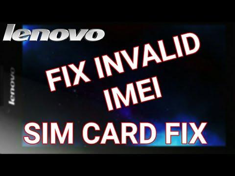 SIM CARD FIX, FIX INVALID IMEI FOR LENOVO TABLET, LENOVO TAB 2 A7  30HC