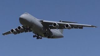 MASSIVE U.S. Air Force C-5M Super Galaxy Landing on a 6,500 ft Runway at Lethbridge Airport