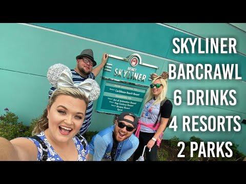 Disney's Skyliner Bar Crawl | Bar Hopping In Walt Disney World With Friends