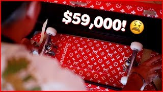 WE BROKE OUR $59,000 LOUIS VUITTON SKATEBOARD