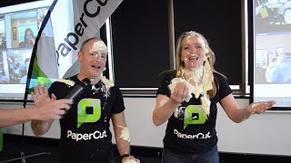 PaperCut's PIE FACE CHALLENGE to raise money for Cancer Research