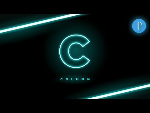 Letter C Glowing Logo Design In Android | C Logo In Pixellab | Pixellab  Tutorial | #AW #ARTISTWORLD