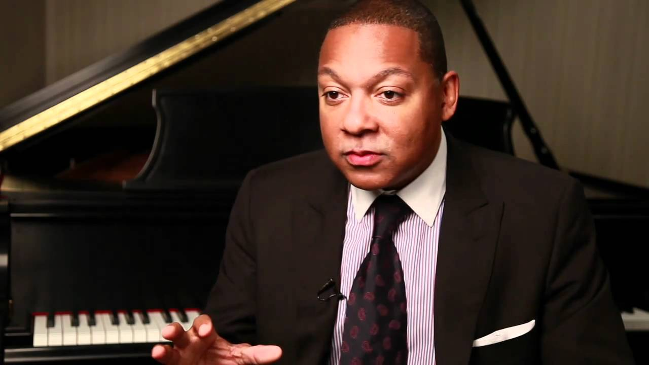 "Artwork representing Wynton Marsalis on composing his ""Swing Symphony"""