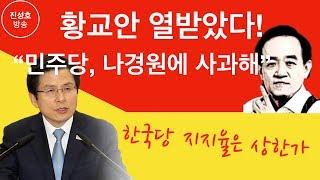 """황교안 열받았다! """"민주당, 나경원에 사과해"""" 한국당 지지율은 상한가! (진성호의 직설)"""