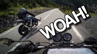 THOSE CRAZY ITALIANS! (Stelvio pass) [RAW Onboard]