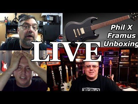 LIVE - Framus Phil X Guitar UNBOXING - feat. PixxyLixxx & Phillip McKnight