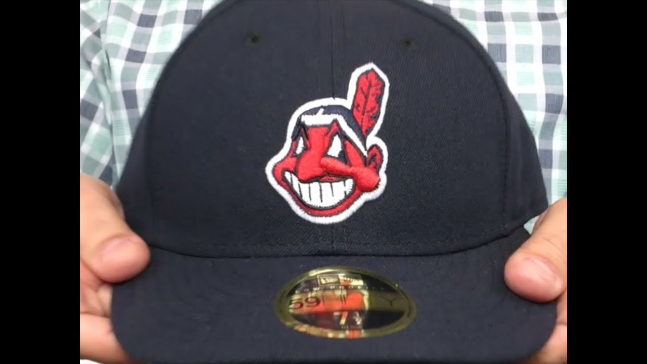 b780854a ... shop indians low crown alternate 2 fitted hat by new era youtube f3405  08beb