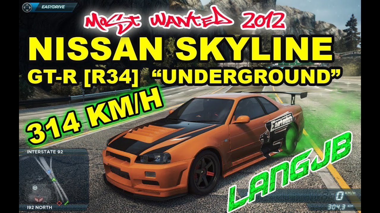 Need for speed most wanted 2012 pc nissan skyline gt r 34 need for speed most wanted 2012 pc nissan skyline gt r 34 underground edition 314 kmh vanachro Gallery