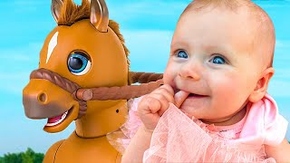 Funny Horse Song with Maya | Children Nursery Rhymes