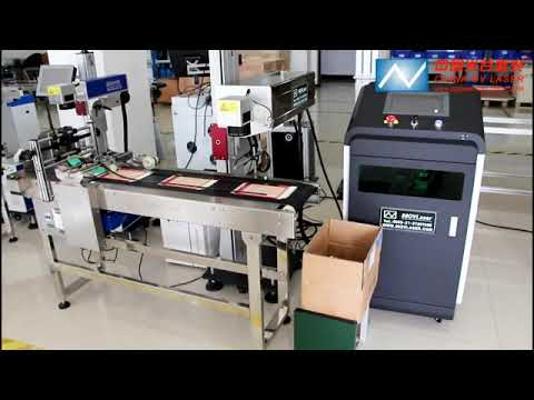 3W 5W  UV Fly Laser Marking Machine For Date Marking On Plastic Package Paper Box Online Marking