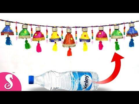 Diwali TORAN/Door Hanging from Waste Plastic Bottles   Door Decorating idea   Best out of waste