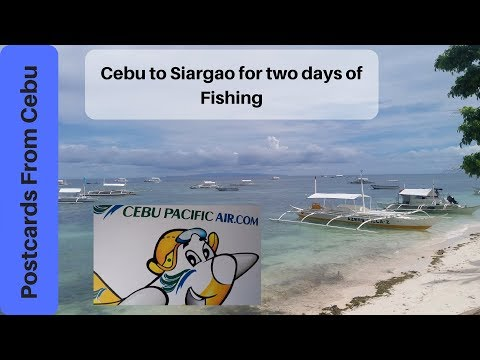 Traveling to Siargao for two days of deep sea fishing!