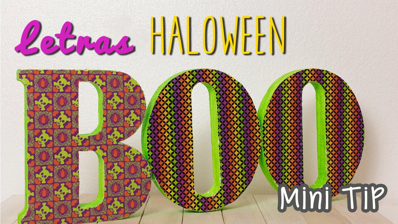 Decoraciones para halloween letras 3d para decorar - Manualidades para decoracion ...