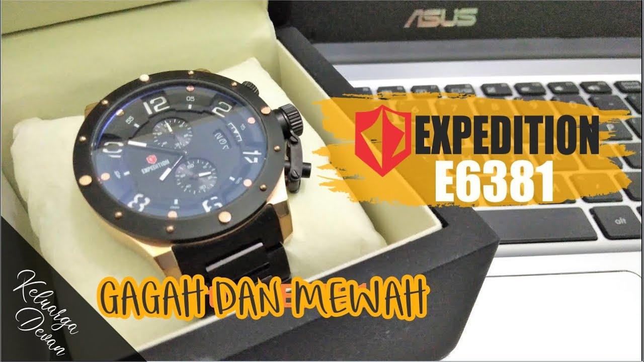 Unboxing Jam Tangan Expedition E 6381 Black Rosegold Gagah Mewah 6381silver