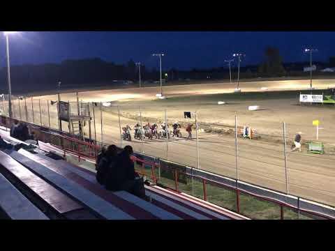 Billy Ross #9r I-96 Speedway Open Singles Heat Race Win