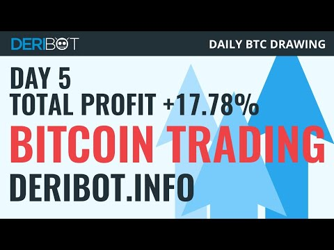 🎯 Live Bitcoin Trading. Daily BTC Drawing Sponsored By Trading Robot DeriBot.