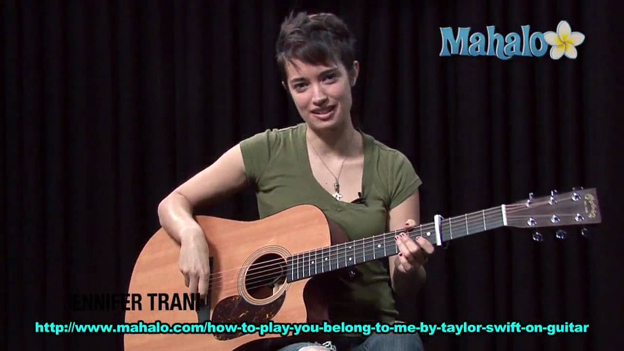 How To Play You Belong With Me By Taylor Swift On Guitar Youtube