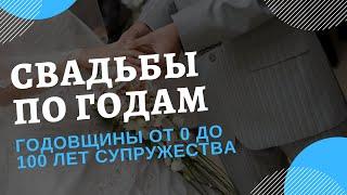 Годовщины Свадьбы по Годам: Как Отмечать и Что Дарить?