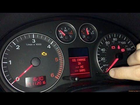 Audi A3 Oil Service Indicator Reset