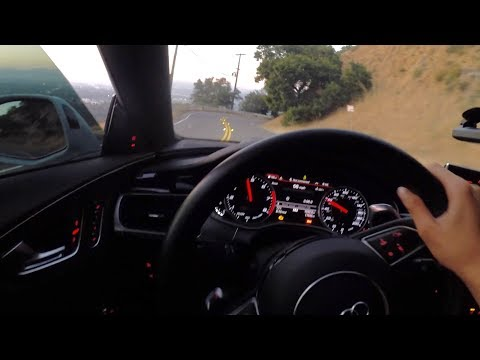 POV: Driving the 760hp AUDI RS7 FLAT OUT in the CANYONS