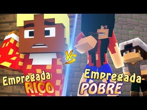 EMPREGADA DE RICO X EMPREGADA DE POBRE ft SR PEDRO E CLOTILDE - MINECRAFT MACHINIMA