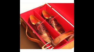 PAUL PARKMAN ® How luxury shoes are made, hand stitching leather sole