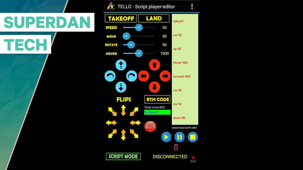 Ryze Tello drone | How to program your Tello with ScripTello App!
