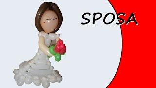 Palloncini modellabili - Sposa - Sculture di palloncini - Parte 1