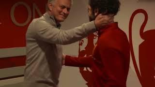 Jose Mourinho Hugs Salah Before Manchester United vs Liverpool Game !