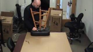 How To Assemble A Holland Bar Stool Wooden Stool With Back