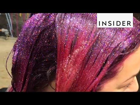 London Salon Dumps Glitter On Hair