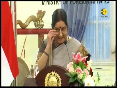 Indian External Affairs Minister Sushma Swaraj In Indonesia