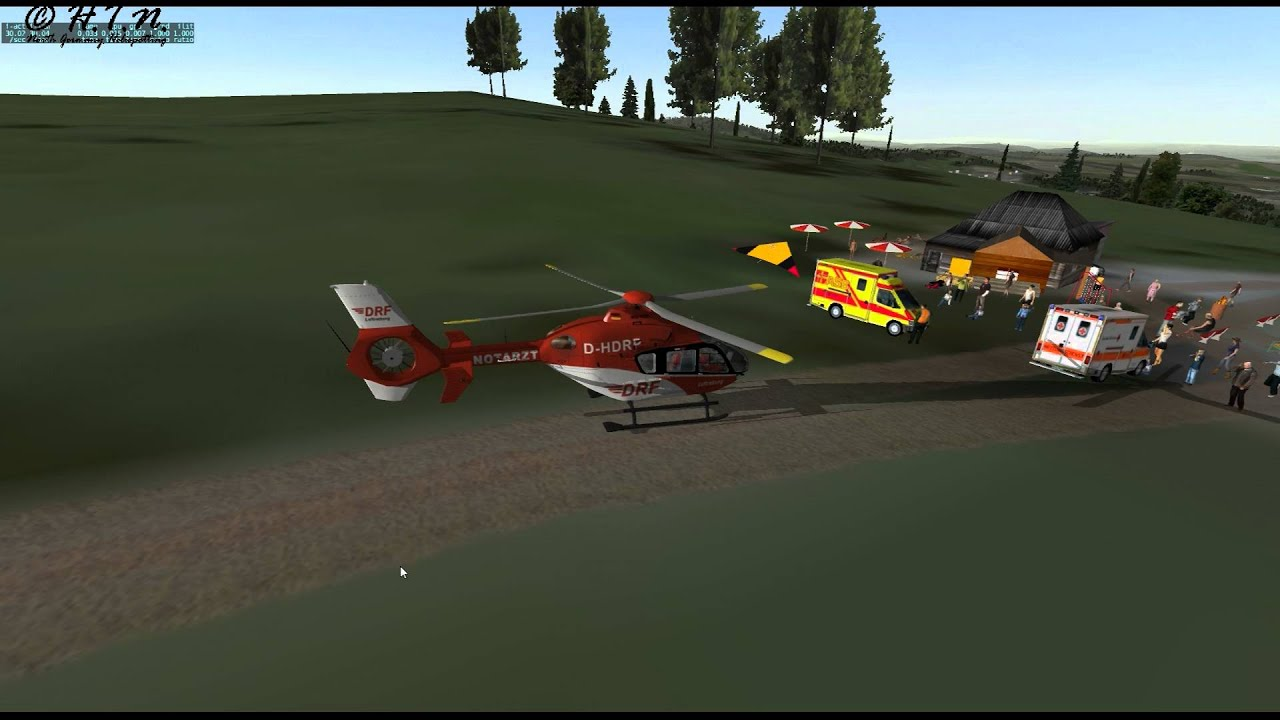 X Plane 11 Helicopter : Christoph ec helicopter in xplane full mission