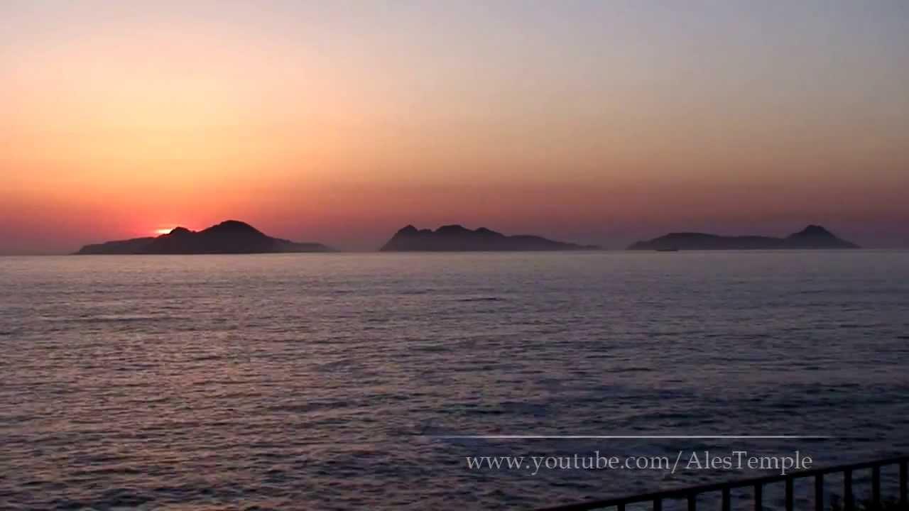 Sunset on Islas Cies - Vigo, Spain - YouTube