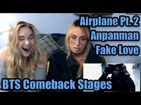 "BTS Comeback Stages (""Fake Love,"" ""Airplane Pt. 2,"" ""Anpanman"") Reaction"