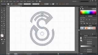 How to make logo in illustrator speed letter ' S ' design