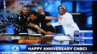 Will Ferrell & Sue Herera Kiss Flashback CNBC 20th Anniversary