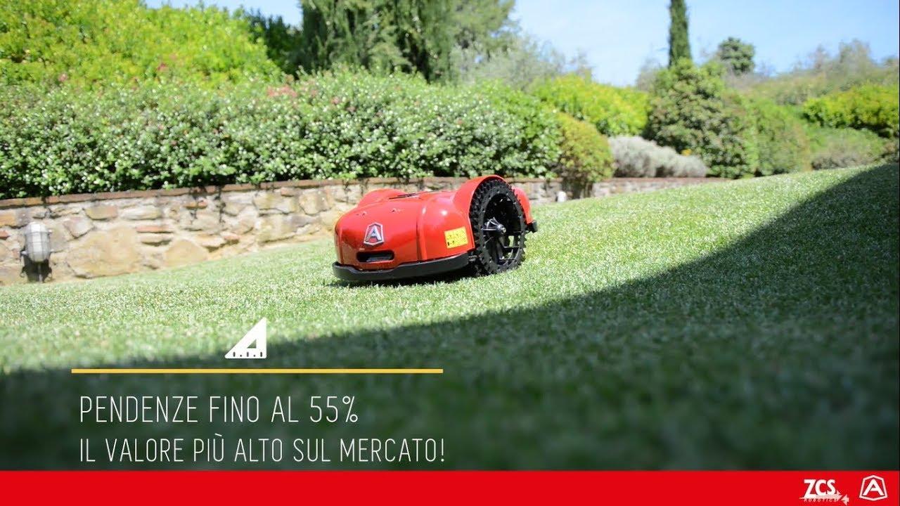 Ambrogio robot l elite perfetto per giardini con forti pendenze