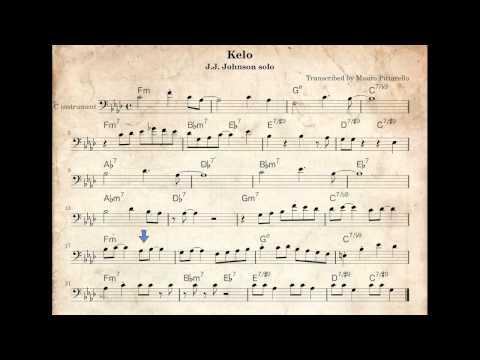 J.J.Johnson jazz trombone solo - Kelo - how to play it - C transcription