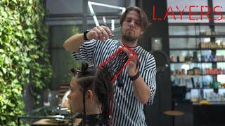 MEDIUM LENGTH LAYERS haircut tutorial - NIKITOCHKIN