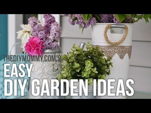 Garden DIY Ideas // Easy, Upcycled Craft Projects for Outside!