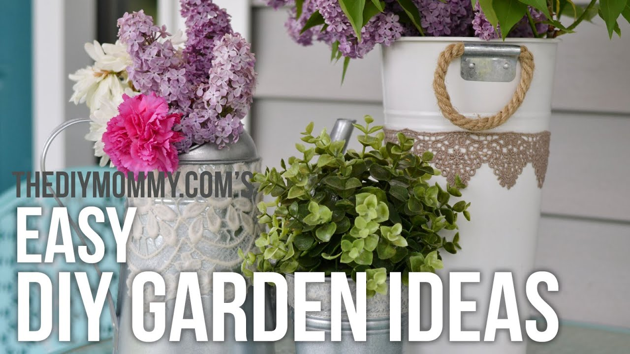 garden diy ideas easy upcycled craft projects for outside youtube