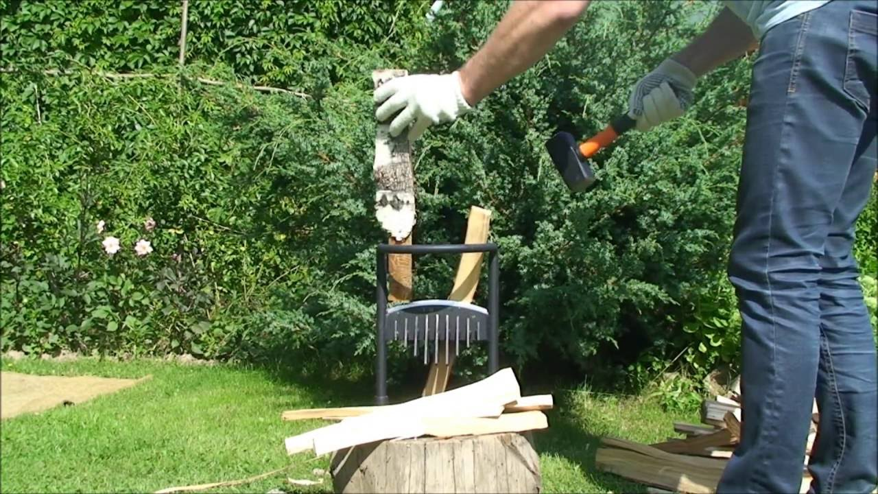 STIHL, колун и топорик FISKARS - YouTube