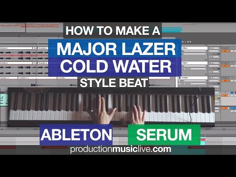 How To Make A Major Lazer Beat - Cold Water Style Ableton &