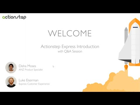 Actionstep Express Introduction + Q & A Session - Australia & NZ