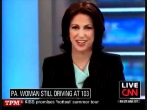 CNN Shows Old Lady Driving, Plays Wrong Song