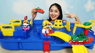 [유라] 장난감(toy)_스웨덴 완구 아쿠아플레이 미니카 토미카 자동차 물놀이 수영 세차 aquaplay dabble in water swim wash a car