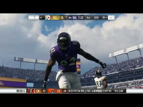 Ravens Space Madden Franchise Vs Steelers