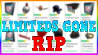 Roblox is REMOVING LIMITEDS....